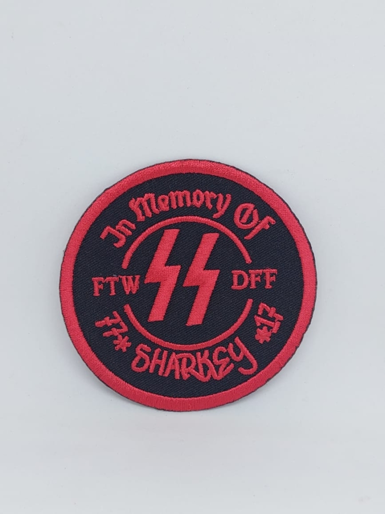 in memory iron on patches