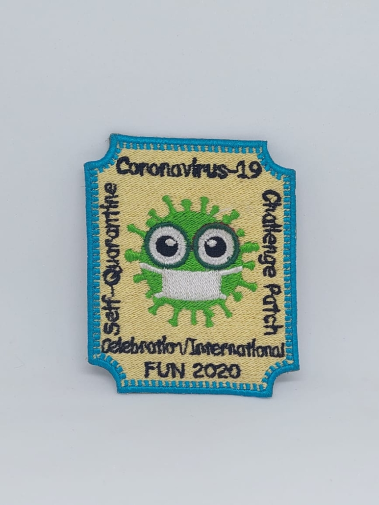 covid iron on patches